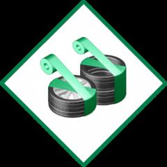 Einwickelmaschinen für Räder und Reifen